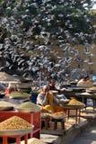 Marché en plein air quotidien à Jaipur Images stock