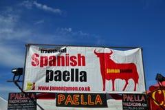 Marché espagnol de Paella Photos libres de droits