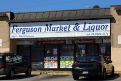 Marché et boisson alcoolisée de Ferguson Images libres de droits