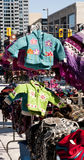 Marché extérieur de l'hiver Image stock