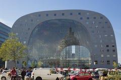 Marché extérieur Hall Rotterdam de vue photo stock