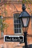 Marché français Images stock