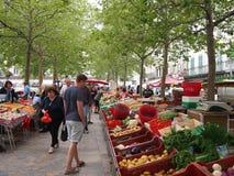 Marché français de nourriture Photographie stock libre de droits
