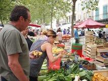 Marché français de nourriture Photos libres de droits