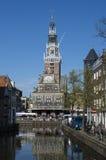 Marché historique du fromage d'Alkmaar Images libres de droits