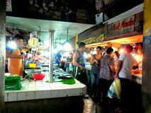 Marché humide des Philippines photo stock