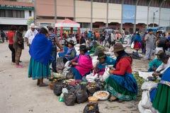 Marché intérieur extérieur Equateur Photographie stock libre de droits