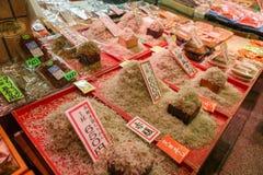 Marché Kyoto Japon de nourriture de Nishiki Photo libre de droits