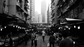 Marché libre en Shau Kei Wan, Hong Kong Photo libre de droits