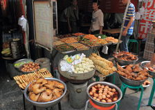 Marché local de nourriture en Chine Photo libre de droits