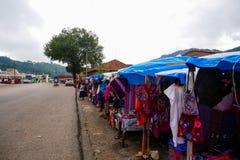 Marché local de produits faits main photographie stock
