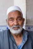 Marché musulman indien de homme de la rue à Srinagar, Cachemire l'Inde Image stock