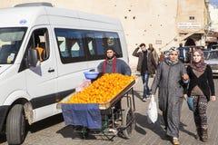 Marché noir dans Meknes, Maroc Images libres de droits