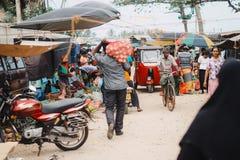 Marché occupé de nourriture photos libres de droits