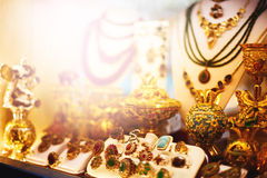 Marché oriental de bijoux Photos libres de droits