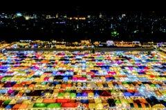 Marché Ratchada de nuit de train Photo stock