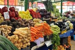 Marché roumain végétal de ville de Constanta photo stock