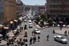 Marché Sanaa, Yémen Images libres de droits