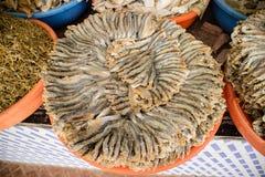 Marché sec de stalle de poissons Image libre de droits