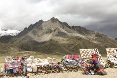 Marché sur la route Cusco-Puno, Pérou image libre de droits