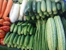 Marché thaïlandais de légumes Images libres de droits