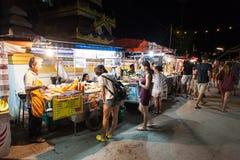 Marché thaïlandais de nuit Image libre de droits