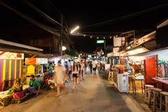 Marché thaïlandais de nuit Photos stock