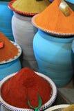 Marché traditionnel d'épices au Maroc Afrique Photo libre de droits