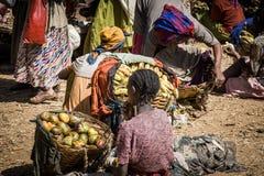 Marché traditionnel de Dorze, Ethiopie, Afrique images stock