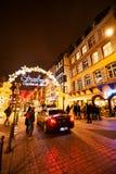 Marché traditionnel de Noël dans les Frances historiques de Strasbourg Photos stock
