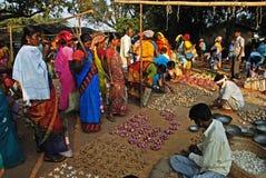 Marché tribal indien Photographie stock libre de droits