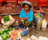 Marché tribal traditionnel sur une île Timor, Indonésie Photos libres de droits