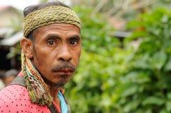 Marché tribal traditionnel sur une île Timor, Indonésie Image libre de droits