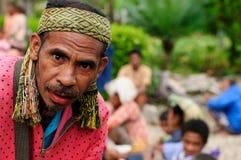 Marché tribal traditionnel sur une île Timor, Indonésie Images stock