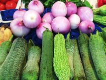Marché végétal Photographie stock