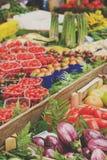Marché végétal chinois Photo libre de droits
