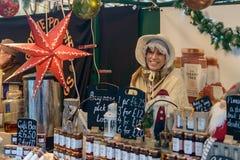Marché victorien de Noël - quais 24 de Gloucester Photographie stock libre de droits