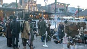 Marché victorien de Noël - quais 44 de Gloucester Image stock