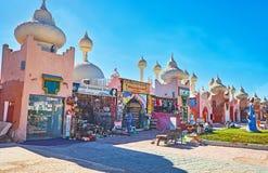 Marchés dans le Sharm el Sheikh, Egypte Images stock