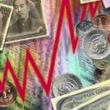 Marchés de monnaie internationale - finances photographie stock