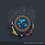 Marchés des affaires de vecteur mondiaux Photo stock