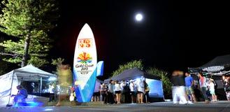 Marchés du front de mer de paradis de surfers - Australie Image libre de droits