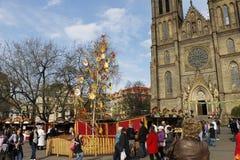 Marchés traditionnels de Pâques à Prague 2012 Photographie stock libre de droits