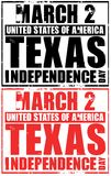 March 2 - usa - texas independence day Royalty Free Stock Photos