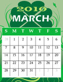 March 2010. Vector Illustration of 2010 Calendar with a monthly, I have all 12 months designed separately or all 12 months in a single design stock illustration