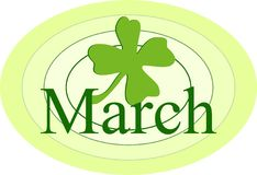 March. Graphic representing the month of March Royalty Free Illustration