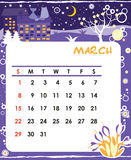 March. Decorative Frame for calendar - March vector illustration