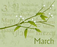 March. 2009 Calendar concept, simple to edit it, all the dates trusted from the PC calendar stock illustration