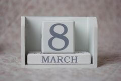 March 8 on calendar royalty free stock images