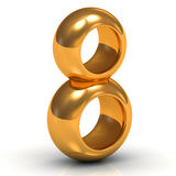 March 8 from two thick gold rings Royalty Free Stock Photo